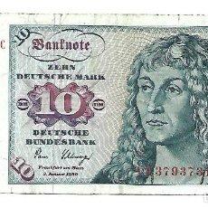 Notas Internacionais: ALEMANIA FEDERAL 10 DEUTSCHE MARK 1980. Lote 220880655
