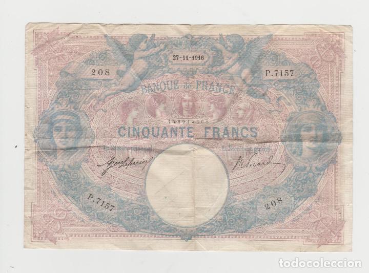 FRANCIA- 50 FRANCOS-27 DE NOVIEMBRE DE 1916 (Numismática - Notafilia - Billetes Extranjeros)
