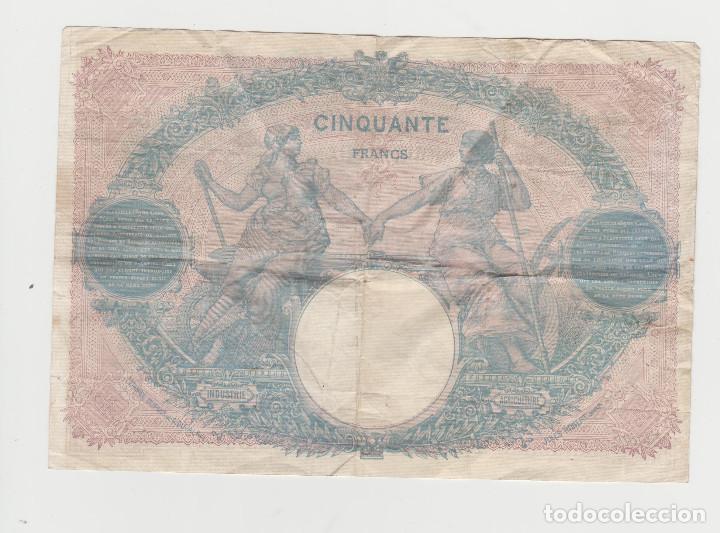 Billetes extranjeros: FRANCIA- 50 FRANCOS-27 DE NOVIEMBRE DE 1916 - Foto 2 - 220953770