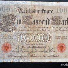 Billetes extranjeros: 1000 MARCOS 21-04-1910 ALEMANIA SERIE CON 6 DÍGITOS. Lote 220955636