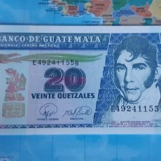 Notas Internacionais: GUATEMALA 20 QUETZALES 2007 P112B UNC SC. Lote 221105255