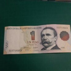 Billetes extranjeros: ARGENTINA UN PESO EN UNIÓN Y LIBERTAD CARLOS PELLEGRINI SERIE 32571026 D. Lote 221341668