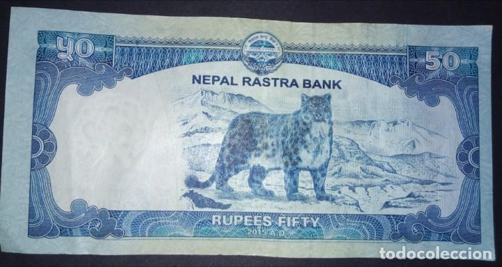 NEPAL 50 RUPEES 2015 LEOPARDO DE LAS NIEVES (Numismática - Notafilia - Billetes Extranjeros)