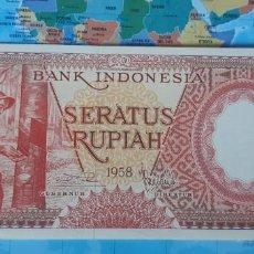 Notas Internacionais: INDONESIA 100 RUPIAH RUPIAS 1958 P59 UNC SC. Lote 221659820