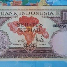 Notas Internacionais: INDONESIA 100 RUPIAH RUPIAS 1959 P69 UNC SC. Lote 221660441