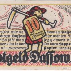 Billetes extranjeros: ALEMANIA NOTGELD 10 PFENNIG 1922 DASSOW MECKLENBURG - IGLESIA - LOTE 55. Lote 221709232
