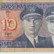 Billetes extranjeros: BILLETE DE LITUANIA CIRCULADO. Lote 221733096