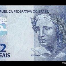 Billetes extranjeros: BRASIL BRAZIL 2 REAIS 2010 (2019) PICK 252E SC UNC. Lote 221951911