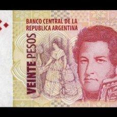 Billetes extranjeros: ARGENTINA 20 PESOS 2003 (2018) PICK 355C SERIE F SC UNC. Lote 221953928