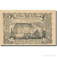 Billetes extranjeros: BILLETE, AUSTRIA, LICHTENAU, 50 HELLER, TEXTE 2, 1920, 1920-04-01, EBC, MEHL:FS. Lote 222089997