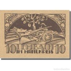 Billetes extranjeros: BILLETE, AUSTRIA, LEMBACH, 10 HELLER, BLASON, EBC, MEHL:FS 510I. Lote 222090000