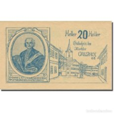 Billetes extranjeros: BILLETE, AUSTRIA, GALLSPACH, 20 HELLER, TEXTE 1, 1920, EBC, MEHL:FS 219. Lote 222090045