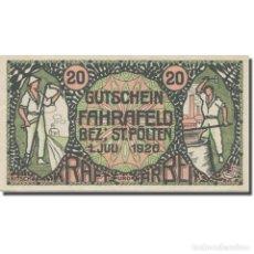 Billetes extranjeros: BILLETE, AUSTRIA, FAHRAFELD, 20 HELLER, TEXTE 1, 1920, 1920-07-01, EBC, MEHL:FS. Lote 222090080