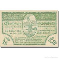 Billetes extranjeros: BILLETE, AUSTRIA, SCHÖNBICHL N.Ö. GEMEINDE, 10 HELLER, TEXTE 1, 1920. Lote 222090093