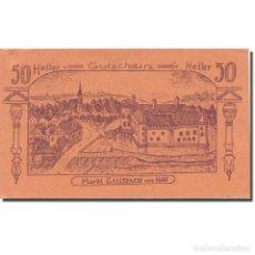 Billetes extranjeros: BILLETE, AUSTRIA, GALLSPACH, 50 HELLER, TEXTE 2, 1920, EBC, MEHL:FS 219. Lote 222090097