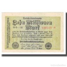 Billetes extranjeros: BILLETE, 10 MILLIONEN MARK, 1923, ALEMANIA, 1923-09-01, KM:106B, BC. Lote 222090132