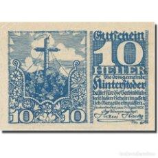 Billetes extranjeros: BILLETE, AUSTRIA, HINTERSTODER, 10 HELLER, TEXTE 1, 1920, 1920-12-31, EBC. Lote 222090135