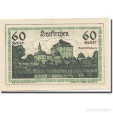Billetes extranjeros: BILLETE, AUSTRIA, SEEKIRCHEN SBG. MARKTGEMEINDE, 60 HELLER, BLASON 3, 1920. Lote 222090142