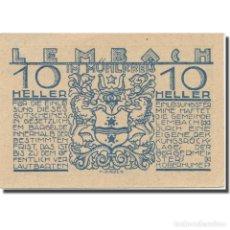 Billetes extranjeros: BILLETE, AUSTRIA, LEMBACH, 10 HELLER, CANON, EBC, MEHL:FS 510IA. Lote 222090145