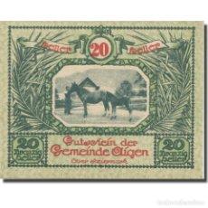 Billetes extranjeros: BILLETE, AUSTRIA, AIGEN STM. GEMEINDE, 20 HELLER, TEXTE 4, 1920, 1920-07-17. Lote 222090208