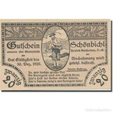 Billetes extranjeros: BILLETE, AUSTRIA, SCHÖNBICHL N.Ö. GEMEINDE, 20 HELLER, TEXTE, 1920. Lote 222090231