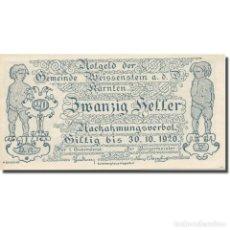 Billetes extranjeros: BILLETE, AUSTRIA, WEISSENSTEIN AN DER DRAU KÄRNTEN GEMEINDE, 20 HELLER, BLASON. Lote 222090250
