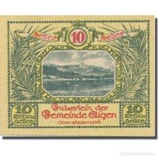 Billetes extranjeros: BILLETE, AUSTRIA, AIGEN STM. GEMEINDE, 10 HELLER, TEXTE 5, 1920, 1920-07-17. Lote 222090273