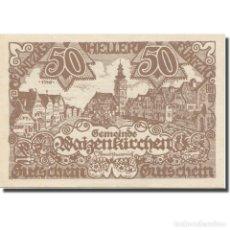 Billetes extranjeros: BILLETE, AUSTRIA, WAIZENKIRCHEN, 50 HELLER, TEXTE 2, 1920, 1920-12-31, EBC. Lote 222090343