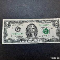 Billetes extranjeros: BILLETE DE 2 DOLARES DE ESTADOS UNIDOS DEL AÑO 2013.S/C.PLANCHA!!. Lote 222227488