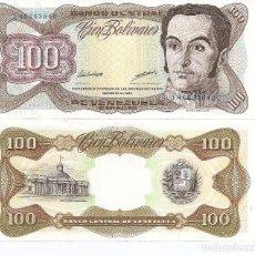 Billetes extranjeros: VENEZUELA 100 BOLIVARES 1998 SC / UNC. Lote 222227728