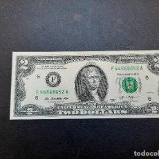 Billetes extranjeros: BILLETE DE 2 DOLARES DE ESTADOS UNIDOS DEL AÑO 2013.S/C.PLANCHA!!. Lote 222227898