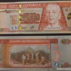 Billetes extranjeros: GUATEMALA : 50 QUETZALES 2012 SC.UNC. PK.# 125 A. Lote 222289880