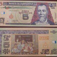 Billetes extranjeros: GUATEMALA : 5 QUETZALES 2008 SC.UNC. PK.# 116 A. Lote 222290550