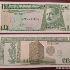 Billetes extranjeros: GUATEMALA : 1 QUETZAL 1993 SC.UNC. PK.# 87 A. Lote 222291482
