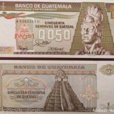 Billetes extranjeros: GUATEMALA : 50 CTVOS DE QUETZAL 1988 SC.UNC. PK.# 65. Lote 222292428