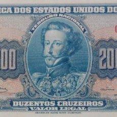 Billetes extranjeros: BRASIL BILLETE 200 CRUZEIROS 1964. Lote 222295975