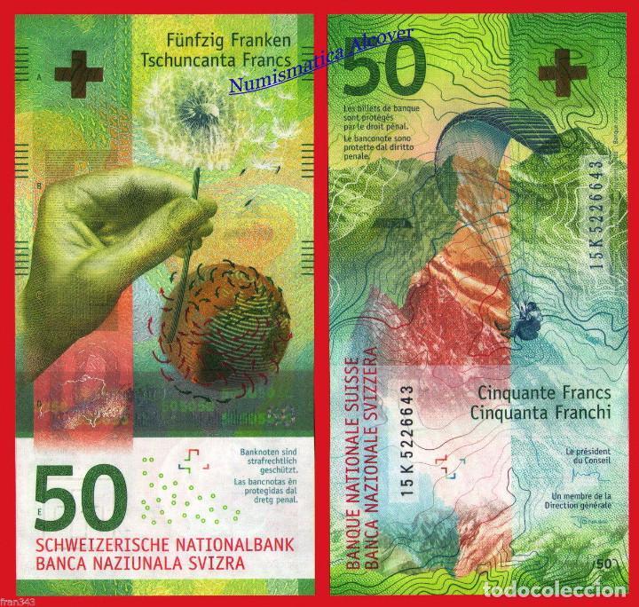 SUIZA 50 FRANCOS 2016 PICK 76A - SC (Numismática - Notafilia - Billetes Internacionales)