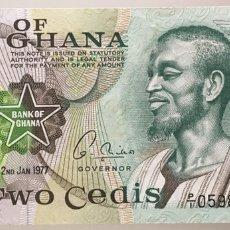 Billetes extranjeros: GHANA. 2 CEDIS 1977. Lote 222716168