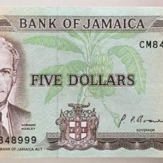 Billetes extranjeros: JAMAICA. 5 DOLARES. Lote 222716691
