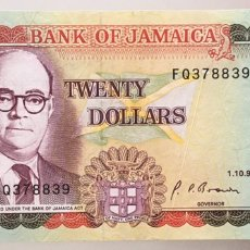 Billetes extranjeros: JAMAICA. 20 DOLARES. Lote 222716738