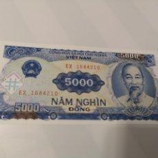 Billetes extranjeros: B228. BILLETE DEL VIETNAM 5000 NAM NGHIN. Lote 222717332