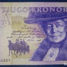 Billetes extranjeros: SUECIA 20 KRONOR 7091584201. Lote 222721240