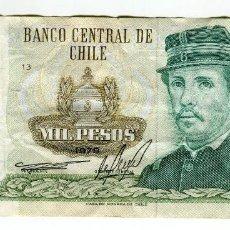 Billetes extranjeros: CHILE 1000 (MIL) PESOS AÑO 1979. Lote 222723705