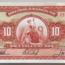 Billetes extranjeros: PERU. 10 SOLES 1967. Lote 222724728