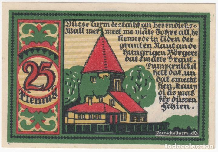 ALEMANIA NOTGELD 25 PFENNIG 1921 OSNABRÜCK - TORRE PERNICK - LOTE 360 (Numismática - Notafilia - Billetes Extranjeros)