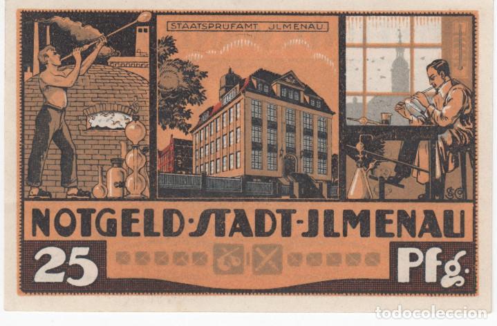 ALEMANIA NOTGELD 25 PFENNIG 1921 ILMENAU - SOPLADOR DE VIDRIO - LOTE 365 (Numismática - Notafilia - Billetes Extranjeros)
