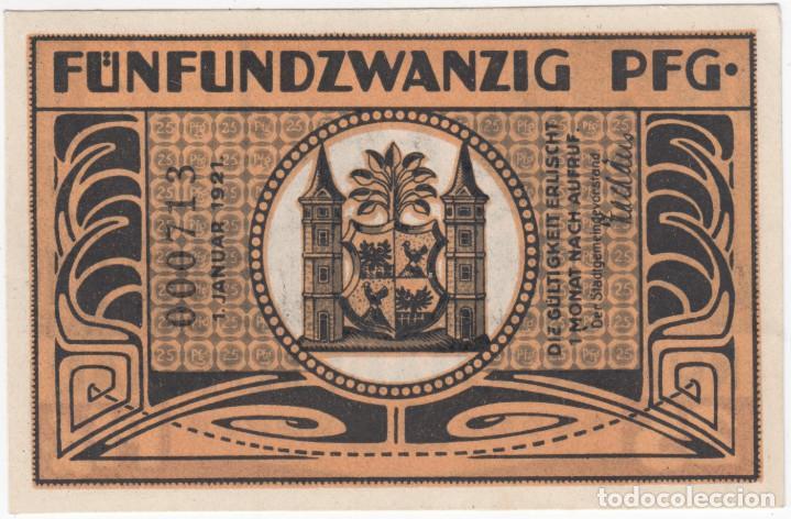 Billetes extranjeros: ALEMANIA notgeld 25 pfennig 1921 ILMENAU - Soplador de vidrio - Lote 365 - Foto 2 - 222747396