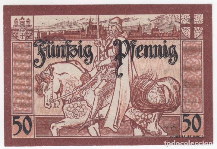 Billetes extranjeros: ALEMANIA notgeld 50 pfennig 1921 MARIENBURG - Palacio y Caballero - Lote 368 - Foto 2 - 222748760
