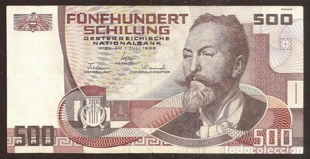 AUSTRIA. 500 SCHILLING 1.7.1985 (1986). PICK 151. (Numismática - Notafilia - Billetes Internacionales)
