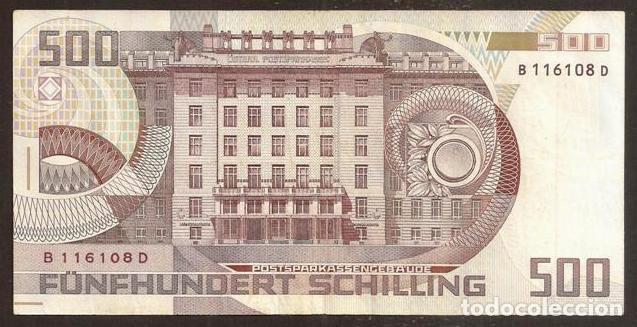 Billetes extranjeros: AUSTRIA. 500 schilling 1.7.1985 (1986). Pick 151. - Foto 2 - 223402340